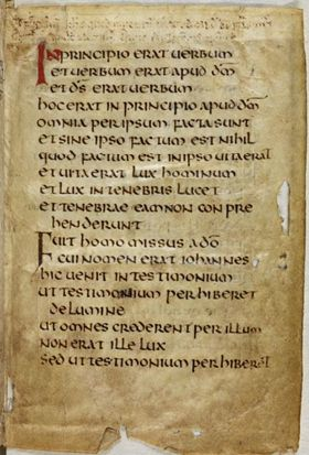 St. Cuthbert Gospel leaf