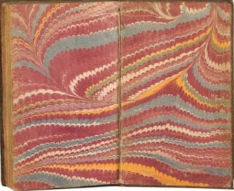 endpapers - marbled