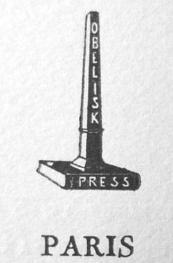 Obelisk Press publisher