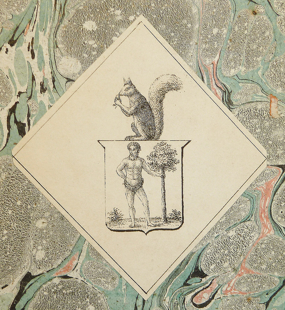 The mystery squirrel and bodybuilder bookplate