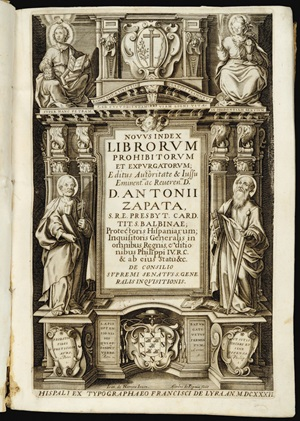 Ill 3 Index Librorum 1632